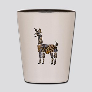 Llama Art Shot Glass